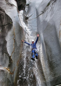 Canyoning in the Boggera