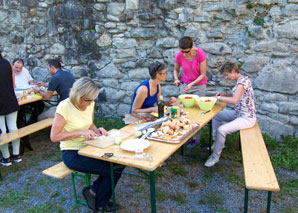 Cooking outdoors in central Switzerland