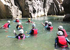 Canyoning in Gruyère