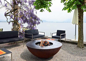 Fire ring grilling on Lake Zurich