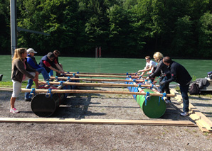 Raft building and Aare river trip in Bern