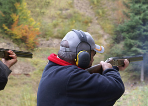 Clay pigeon shooting in the Emmental