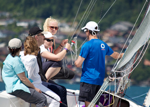 Sailing events on a Swiss lake
