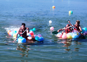 Water-Team-Challenge on the lake Schiffenen