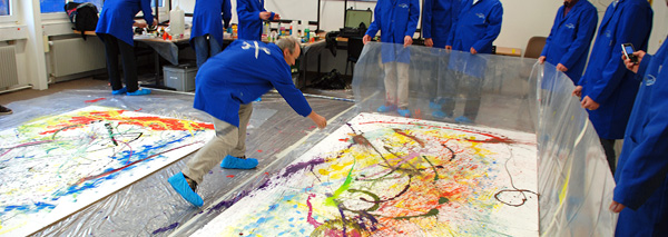 Action-Painting im Team