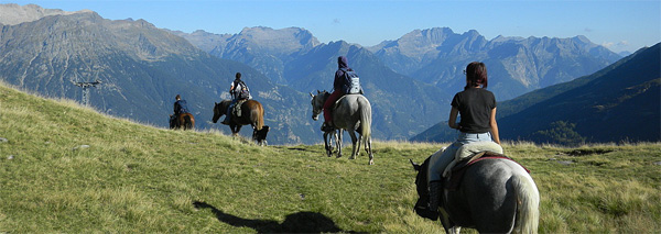 Through the Ticino on horseback