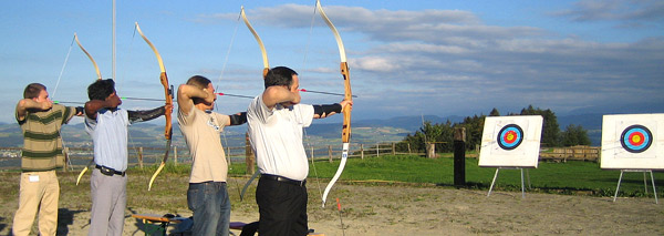bow and arrow event for Groups