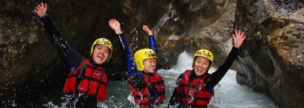 Canyoning in the Berner Oberland