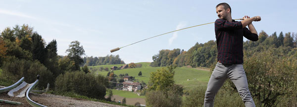 Hornussen and eat in the Emmental