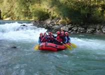 Raft trip on the Saane