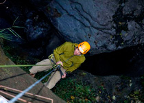 Abseiling in the Choleren gorge