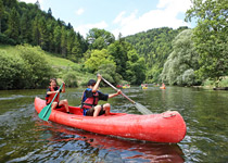 Canoeing on the Doubs