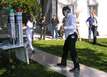 Fencing with a master