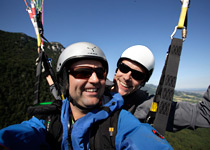 Be a paragliding passenger