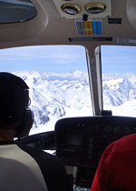 Drinks on a glacier by helicopter