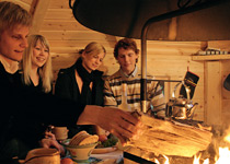 A magical grill in a Lapland cabin