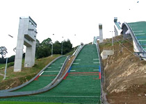 House running in the ski jump centre