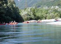 Canoeing in the Ticino