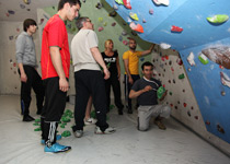 Team experience in a climbing hall