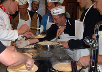 Cooking in the Emmental countryside