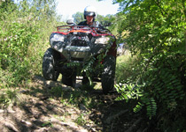 Quad bike touring through the east of Switzerland
