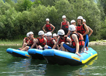 Fun rafting in the Ticino