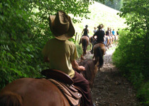 Team trip on horseback