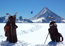 Snow golf in the Berner Oberland