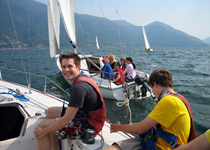 Sailing on Lake Maggiore