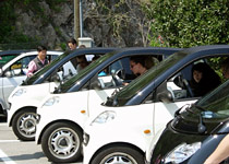 Smart car treasure hunt in the Ticino