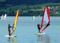 Stand up paddling and windsurfing