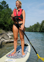 Stand Up Paddling (SUP) am Thunersee