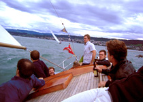 Team building on Lake Zurich