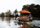 Barbecue boat on the Aare