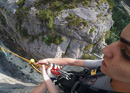 Canyon Swing in der Gletscherschlucht