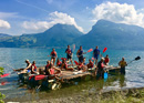 Raft building on the Thunersee