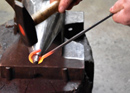 Forging barbecue skewers with barbecue fun in Bern