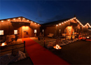Log cabin gatherings for large parties