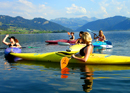 Kayak tour on a Swiss lake
