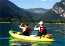 Kayaking on Lake Thun