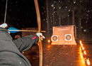 Archery by torchlight